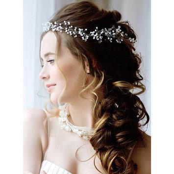 Bridal Hair accessories for Bride, Bridesmaids-19in Wedding Hair Piece- Silver and Pearl Hair Jewelry Bridal Head Piece- Crystal Pearl Hair Pins included
