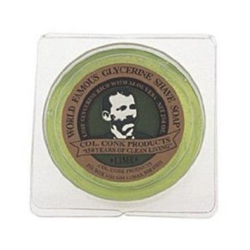 Col. Conk Lime Glycerine Shave Soap 2.25 oz. by Col Conk