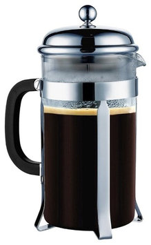 French Press French Coffee Press 8 Cup, 1 liter, 34 oz, Chrome