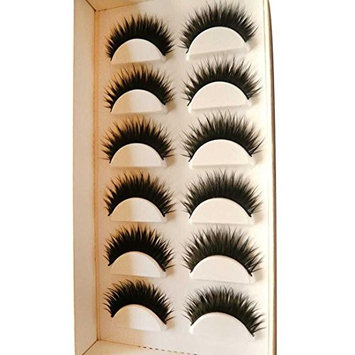 Leoy88 6 Pair Handmade Natural False Eyelashes for Daily Makeup