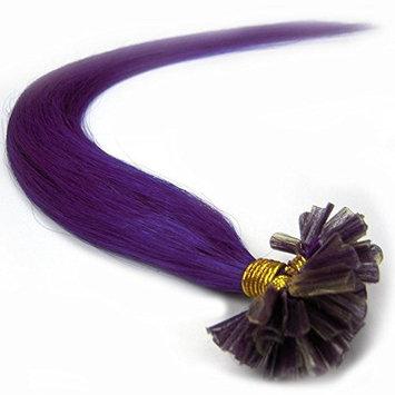 VANLINKE Fusion Keratin Pre Bonded U Nail Tip Remy Real Human Hair Extensions Straight 100s 22inch 0.6g Per Strand