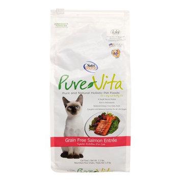 Tuffys Pet Foods Inc Pure Vita Grain Free Salmon Entr e Dry Cat Food 2-lb bag