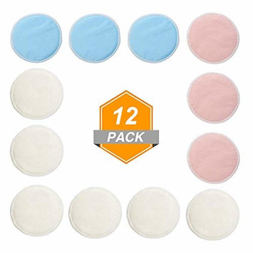 SGDOLL Bamboo Reusable Makeup Remover Pads with Laundry Bag - Chemical free, Reusable Soft Facial and Skin Care Wash Cloth Pads,3 Color,12 Packs