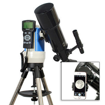 Twin Star New Black 80mm GPS Computerized Refractor Telescope with Universal Smartphone Camera Adapter
