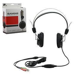 TTX TECH PC Stereo Gaming Headset with Adjustable Boom Mic - Black