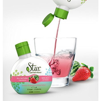 Stur Drinks - Strawberry Watermelon, Natural Flavored Water Enhancer, 5 Bottles, Makes 100 Beverages, Sugar Free, Zero Calorie, Fruit Flavored Liquid Drink Mix with Stevia and Healthy Antioxidants [Strawberry Watermelon]