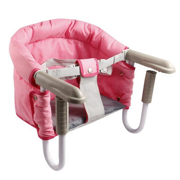 Garain Foldable Portable Clip-On Baby High Chair Feeding Chair Seat with Carry Bag, Pink (US Stock)