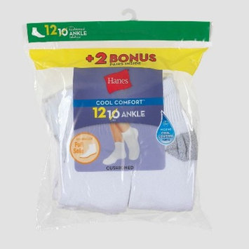 Hanes Women's 10pk + 2 Bonus Ankle Socks with Cushion