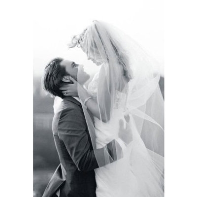 Bridal Wedding Veil Ivory 1 Tier Long Cathedral Length Standard Cut Edge by Velvet Bridal