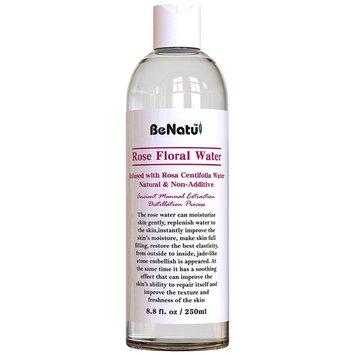 Benatu Rose Water Organic Face Toner + FREE Compressed Facial Mask × 5-100% Pure and Natural Astringent 8.8 oz