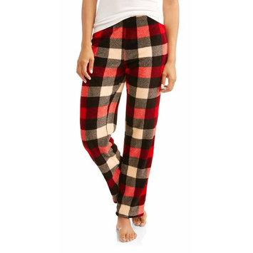 women's and women's plush microfleece sleep pant