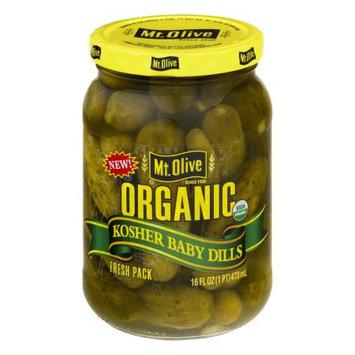 Mt Olive Pickles Mt. Olive Organic Kosher Baby Dills, 16.0 FL OZ
