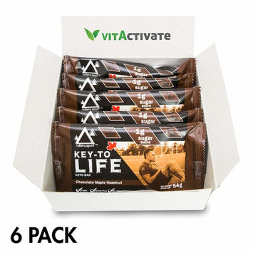 Keto Diet Snack (6-Pack) Choco Maple, NATERA Supplement Bar Low Carbs Pre-Workout Protein