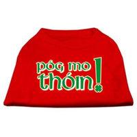 Mirage Pet Products 5163 XLRD Pog Mo Thoin Screen Print Shirt Red XL 16