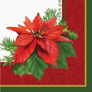 Creative Converting 16 Count Holiday Poinsettia Lunch Napkins
