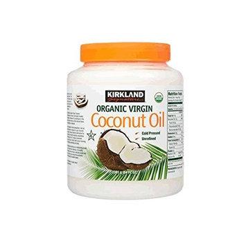 Kirkland Signature Cold Pressed Unrefined Organic Virgin Coconut Oil, 84 Ounce