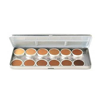 Ben Nye 12 Color Palette, Olive-Brown Matte HD Foundation [Olive-Brown]