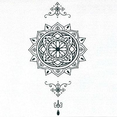 Datura Totem Tattoo Sticker Body Art Men Women Arm Temporary Tattoos Fake Tatoo