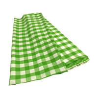 LA Linen CheckBolt-5Yrd-LimeK84 5 Yards Gingham Checkered Flat Fold White & Lime