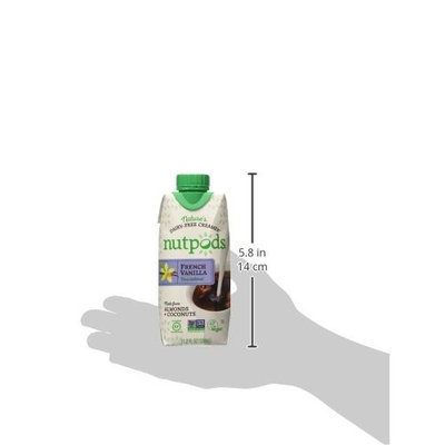 nutpods Unsweetened Dairy-free Coffee Creamer, 12-pack (French Vanilla)