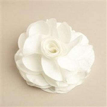 Creamy White Silk Rose Wedding Hair Clip or Pin by Mariell Designs