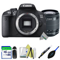 Canon EOS 700D 18MP Digital SLR Camera + Canon 18-55mm f/3.5-5.6 IS STM Lens + Expo-Starter Accessories Kit