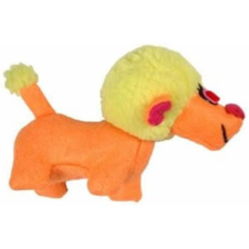 Votoy 812-65309 Vo-Toys Power to the Poodle Assorted Colors Plush Dog Toy