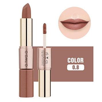 Women Lip Gloss, Inkach Chic Girls 12 Colors 2 in 1 Velvet Matte Lipstick Lip Gloss Double-End Makeup Cosmetic