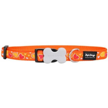 Red Dingo DC-BZ-OR-ME Dog Collar Design Breezy Love Orange Medium