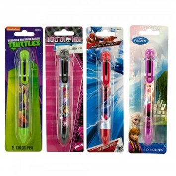 Bulk Buys KL18304 Licensed 6 Color Retractable Pen