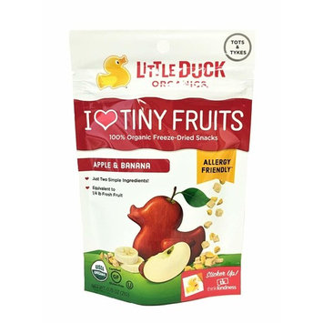Little Duck Organics I Love Tiny Fruits 100% Organic Freeze-Dried Snacks 1 Pack, 0.75 oz (Strawberry & Mango, 1 Pack)
