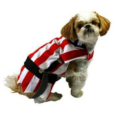 Target Pirate Dog Costume Red Striped Halloween Pet Outfit