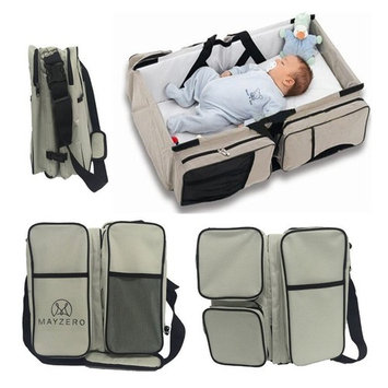 Travel Portable Bassinet 3 in 1 Diaper Bag Travel Baby Bed and Portable Changing Station, Multipurpose Baby Diaper Tote Bag Bed Upgraded Version