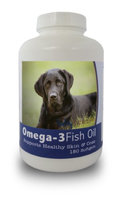 Healthy Breeds 840235141624 Labrador Retriever Omega-3 Fish Oil Softgels 180 Count