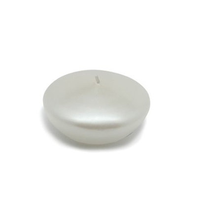 Zest Candle CFZ-076 3 in. Pearl White Floating Candles -12pc-Box