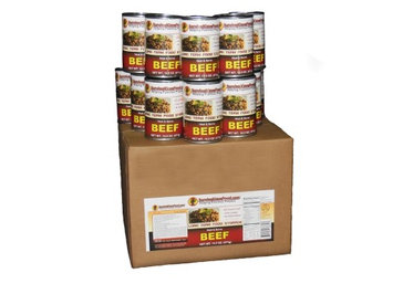 Survival Cave Canned Meat Beef Food-1 case (12 cans)-14.5oz