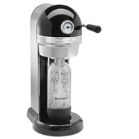 KitchenAid Onyx Black Sparkling Beverage Maker Powered by SodaStream with 3 Ounce Starter Tank