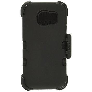 Asmyna Cell Phone Case for Samsung Galaxy S7 Edge - Black/Black