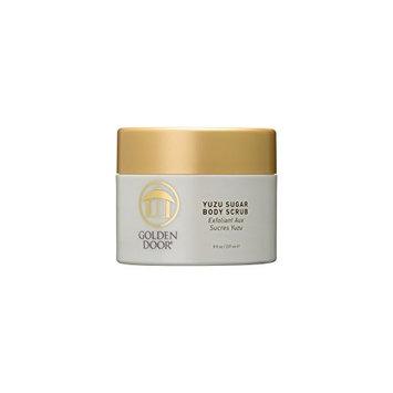 Golden Door Yuzu Sugar Body Scrub, 8 fl oz, Japanese Citrus, Sugar granules Gently exfoliate, Eliminate toxins and Dirt Found deep Within pores to Reveal Soft, Supple Skin, Improve Appearance & Tone