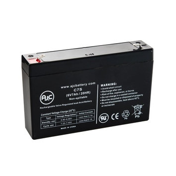 Battery Center BC-670 6V 7Ah Sealed Lead Acid Battery - This is an AJC Brand® Replacement