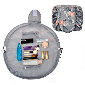 Casual Waterproof Women Toiletry Bags Folding Large Capacity Lazy Cosmetic Bags