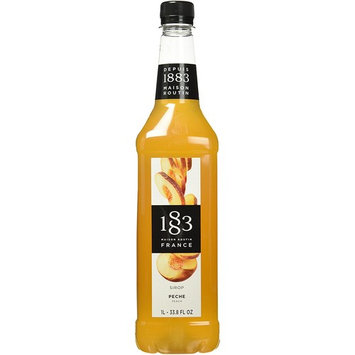 1883 Maison Routin - Peach Syrup - Made in France - Pet Bottle | 1 Liter (33.8 ounces)