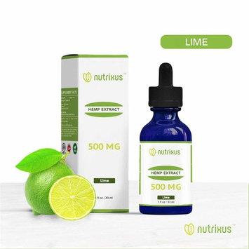 Nutrixus Organic Hemp Extract Oil Drops 100% Hemp 500MG Lime Favor Helps with Anxiety, Chronic Pain, Sleep, Mood, Skin and Hair utilizing Liquid Hemp Extract Oil Drops