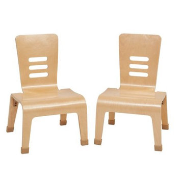 Ecr4kids, L.p. Ecr4Kids L.P. ELR15700NT Bentwood 12 in. Teacher Chairs Pack of 2