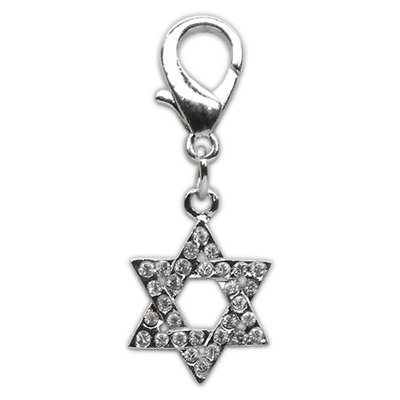 Mirage Pet Products 2518 SOD Holiday lobster claw charms zipper pulls Star of David.