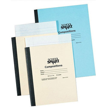 School Smart Stitched Cover Composition Books - No Margin - 8.5 x 7 - 96 Pages