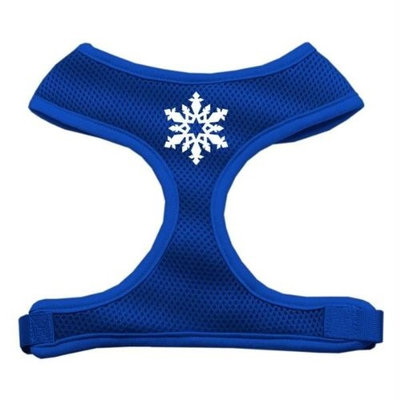 Mirage Pet Products 7023 MDBL Snowflake Design Soft Mesh Harnesses Blue Medium