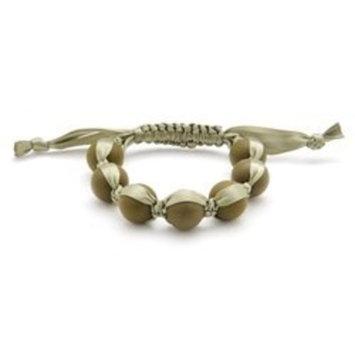 Chewbeads Cornelia Teething Bracelet, 100% Safe Silicone - Military Olive