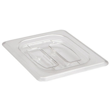 Cambro Camwear� 1/8 Size Clear Polycarbonate Flat Food Pan Lid with Handle (80CWCH135)