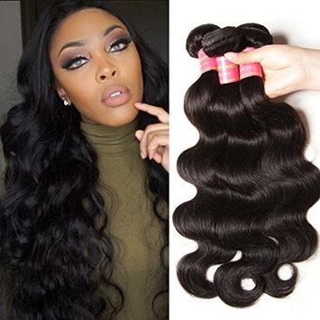 Donmily 7A Brazilian Human Hair Body Wave 1 Bundle Deals 100% Unprocessed Remy Virgin Human Hair Weave 95-100g Natural Black